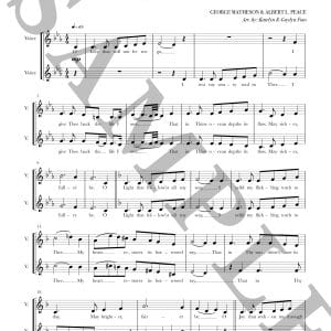 "Page sample of the a cappella sheet music for ""O Love That Will Not Let Me Go"""