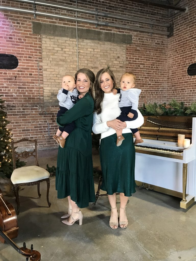 Katelyn & Gaylyn with their nephews during the music video shoot