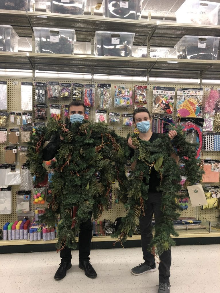 """Hobby Lobby trip to get Christmas garlands for the """"Repeat the Sounding Joy"""" music video"""